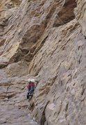 Rock Climbing Photo: approaching  the roof