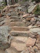 Rock Climbing Photo: Rock work leading up to the Tan Corridor at Staunt...