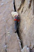 Rock Climbing Photo: Bernd starting up the initial crack