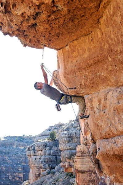Myself working out the kinks before the eventual FA of Whirlwind 5.12-, Chevelon Canyon backlands...<br>  <br> Wade Forrest photos