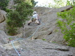 Rock Climbing Photo: On the upper portion.