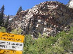 Rock Climbing Photo: The cliff