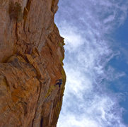 Rock Climbing Photo: there are a few pretty tenuous moves