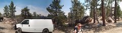 Rock Climbing Photo: Holcomb Valley Pinnacles, North parking area- Ben ...