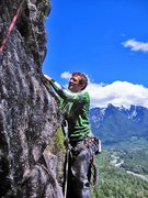 Rock Climbing Photo: Tom Ramier starting the 4th and last pitch of the ...