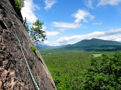 Rock Climbing Photo: Finished stringing together 1st and second pitches...