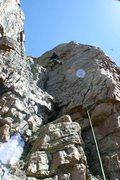 Rock Climbing Photo: Das craigers cruisin the upper section on green eg...