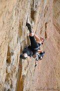 Rock Climbing Photo: Warming up on 5-Gallon Buckets at Smith Rocks