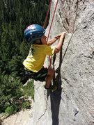 """Rock Climbing Photo: Garrett Gillest on """"The Touch""""."""