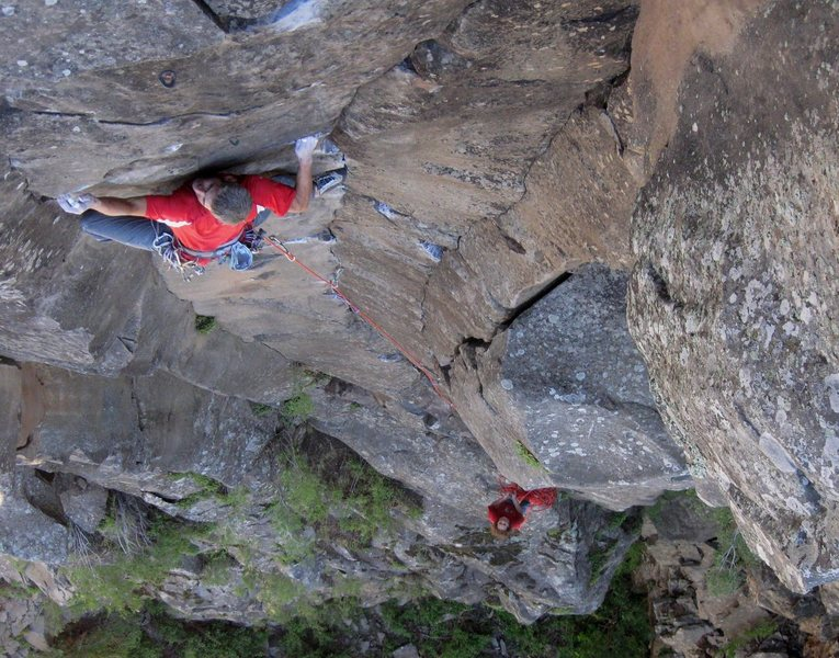 FA of Parallel Universe 5.11 with James Q Martin on the belay... Volunteer Canyon, AZ