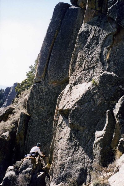 Rock Climbing Photo: Descent to Rio Embudo.