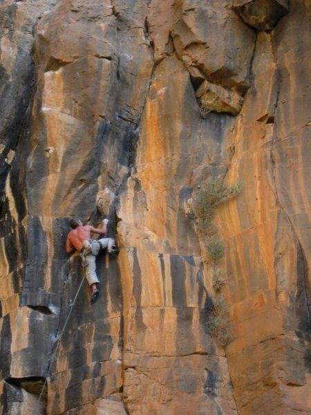 Rock Climbing Photo: Working on Pyrokinesis 5.12+ before the FA, The Wa...
