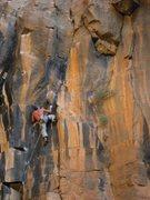 Rock Climbing Photo: Working on Pyrokinesis 5.12+ before the FA, The Wa...