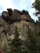 Rock Climbing Photo: Andrew Cyr climbing Parks Highway 5.9. The obvious...