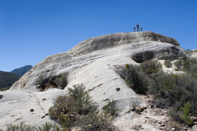 Matthew & the boys at Piedra Blanca, Los Padres National Forest. (Spring 2013)