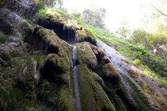 Rock Climbing Photo: Rose Falls, at low water. Los Padres National Fore...