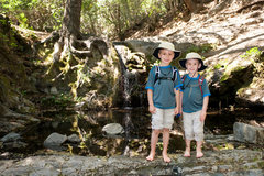 Rock Climbing Photo: Bryson & Wesley below Rose Falls, Los Padres Natio...