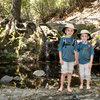 Bryson & Wesley below Rose Falls, Los Padres National Forest. (Spring 2013)