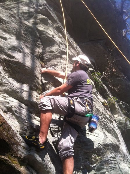 Rock Climbing Photo: baby nc crack