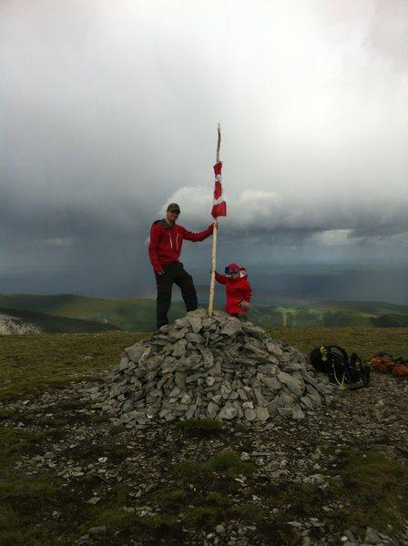 My son's first summit :D