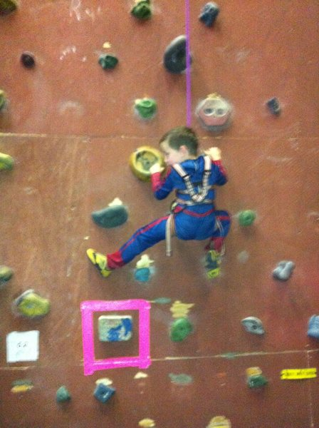 Rock Climbing Photo: The mask makes it a little hard to see