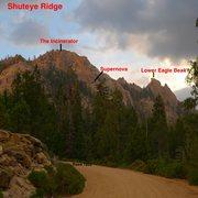 Rock Climbing Photo: Map to the Eagle Beaks area