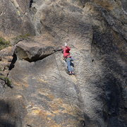 Rock Climbing Photo: Mike Arechiga on a super 5.10 at the 557 Wall