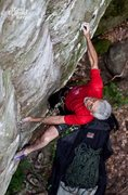 Rock Climbing Photo: Jeff Frizzell, sending the first-ever FA on this r...