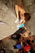 Rock Climbing Photo: Pete Temmens on an unknown route near Shadow of a ...