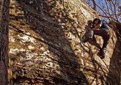 Rock Climbing Photo: Jason Gatmaitan exhibiting the lack of footholds o...