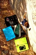 Rock Climbing Photo: Pete Temmens on a route next to the V3 on the firs...