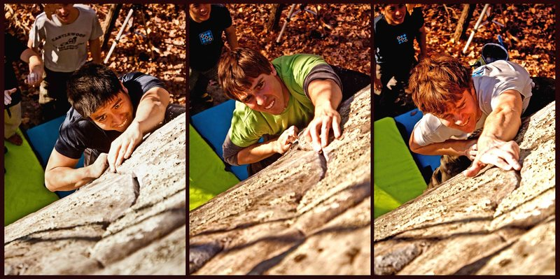 Rock Climbing Photo: This is what Seam's Easy does to the face.  Photo ...