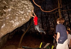 Rock Climbing Photo: Ross McKinney showing where the name Jungle Book c...