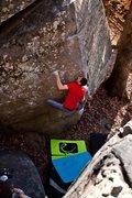 Rock Climbing Photo: Ross McKinney on Shadow of a Man.  Photo by Thomas...