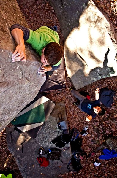 Rock Climbing Photo: Jeff Loberg on the corner route near Shadow of a M...