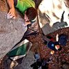 Jeff Loberg on the corner route near Shadow of a Man.  Photo by Thomas Diehl.