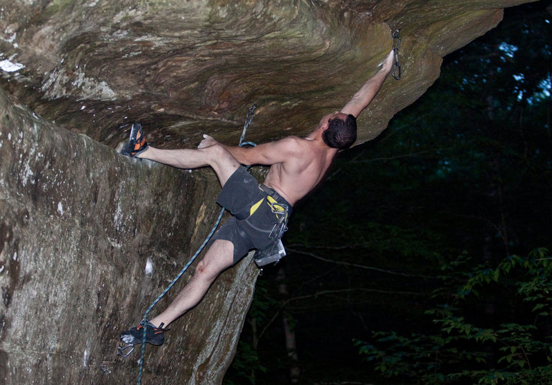 Rock Climbing Photo: Russ on Here Come the Snakes.  Photo by Thomas Die...