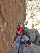 Rock Climbing Photo: At the crux start.