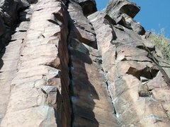 Rock Climbing Photo: Close up shot of the 1st and 2nd Bolts of Little N...