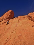 Rock Climbing Photo: Kayla TR-ing Trigger Finger with Cowboy Boot Crack...
