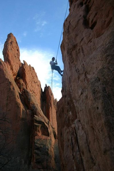 Rappelling off of Potholes, 2012.