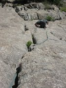 Rock Climbing Photo: About 5m before the angle decreases, or about 50m ...