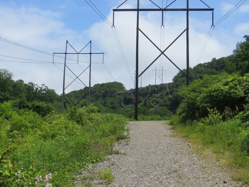 Rock Climbing Photo: The trail near the parking lot. E Rocks in the bac...