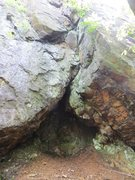 Rock Climbing Photo: The Smokestack cave.