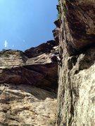 Rock Climbing Photo: Last pitch Matt G.