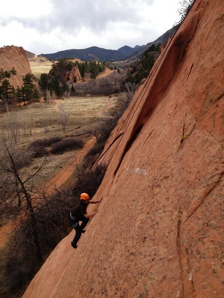Chris approaching the dihedral on TR, 2013.