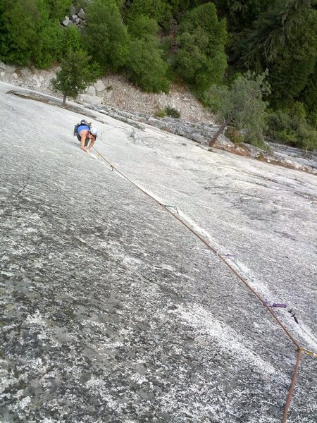 Rock Climbing Photo: Mr Natural - one of the best finger cracks anywher...