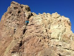 Rock Climbing Photo: The 5.2 downclimb.  Some people might prefer to ra...