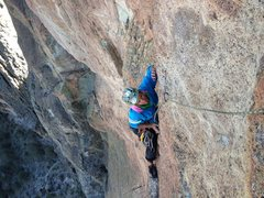 Rock Climbing Photo: The face section of the Good Ole Days Variation 11...