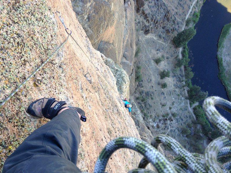 Rock Climbing Photo: Final Pitch Exposure